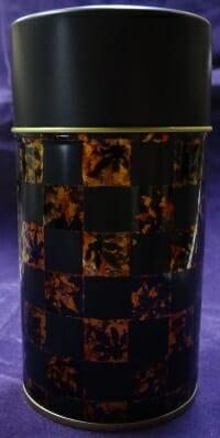 丸城茶舗の茶缶